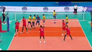 C quick from Bruno to Lucas|Brazil volley| VNL 2018