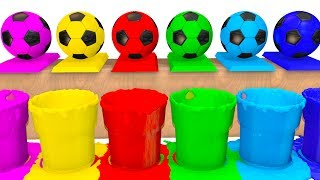 Colors for Kids to Learn w Soccer Balls Surprise Eggs - Superheroes Learning Video for Babies