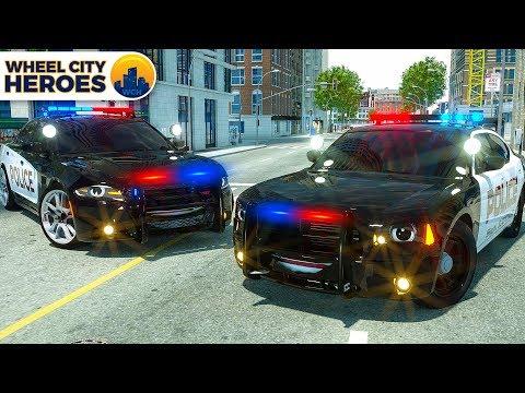 Xxx Mp4 Police Car Lucas Tyre Stuck In Resin Wheel City Heroes WCH 3D Cartoon For Kids 3gp Sex