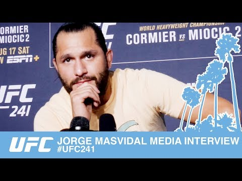 JORGE MASVIDAL MEDIA INTERVIEW UFC241
