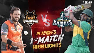 Vancouver Knights vs Brampton Wolves | Playoffs-1 Match 1 Highlights | GT20 Canada 2019