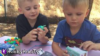 Lets Go Fishin' XL Game! Surprise Toys Disney Prize HobbyKidsTV