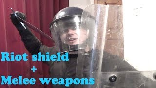 Riot Shield and Melee Weapons?