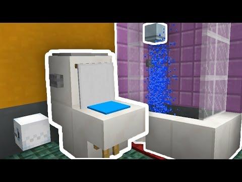 Minecraft : COMO FAZER UM BANHEIRO QUE FUNCIONA!! (SEM MODS)