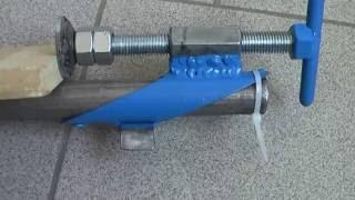 Как сделать зажим трубы