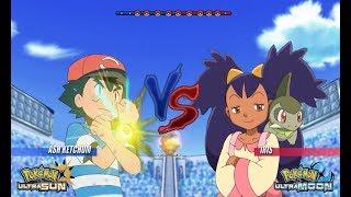 Pokemon Battle USUM: Alola Ash Vs Iris (Pokémon Alola Vs Unova)