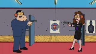 American Dad! Stan Meets Someone at the Gun Range