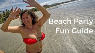 Beach Party Clip: Dance, Song, Prank, Wet Girls, Bikini, Kiss Game, Yoga Workout, Fun, Love Story