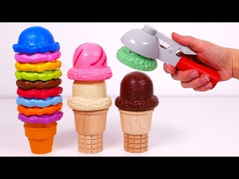 Ice Cream Cones Playset Learn Colors for Kids
