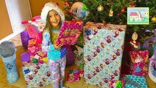 Christmas Morning 2015 Opening Big Disney Princess Surprise Toys Presents Haul