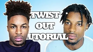 GF Does BF's Hair - Twist Out On Natural Hair | Tiara and Kalon
