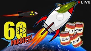 Sending soup to SPACE in 60 Parsecs! Post-apocalyptic space