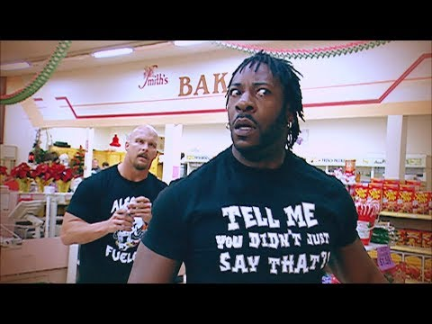 Stone Cold Steve Austin and Booker T brawl it out inside a grocery store