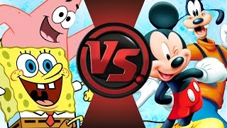 SPONGEBOB and PATRICK vs MICKEY MOUSE and GOOFY! Cartoon Fight Club Episode 82