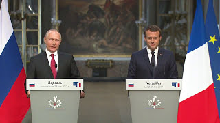 Man Meets Boy: Putin, Macron meet in Versailles on 300th anniversary of Tsar Peter's visit to France