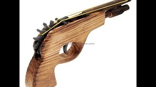 Classic Wooden Rubber Band Guns - Vintage Style Pistols