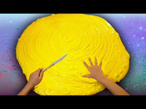 Xxx Mp4 Butter Slime GIANT SIZE How To 100 DIY Slime Challenge Recipe 3gp Sex