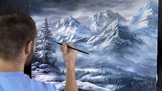 Snowy Mountains | Paint with Kevin ®