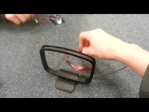 Homemade metal detector creates cool sound effects