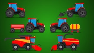 Farm Vehicles | Tractors and Trucks | Baby Video