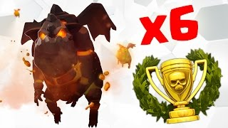 HEXALALO : 6 LAVA HOUNDS TH9 SUPER STRONG WAR ATTACK STRATEGY | Clash of Clans