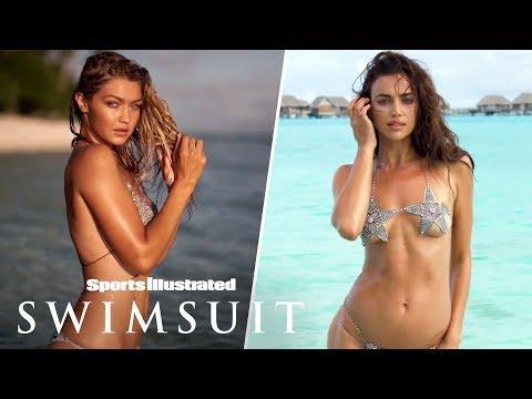 Gigi Hadid Glows Irina Shayk Swims With The Sharks In Tahiti On Set Sports Illustrated Swimsuit