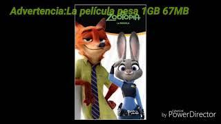 Descarga la película de Zootopia gratis full HD al español latino