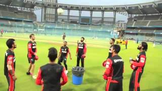RCB team had fun with football