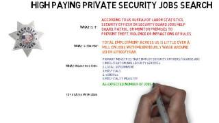 High Paying Private Security Job Search Made Easy