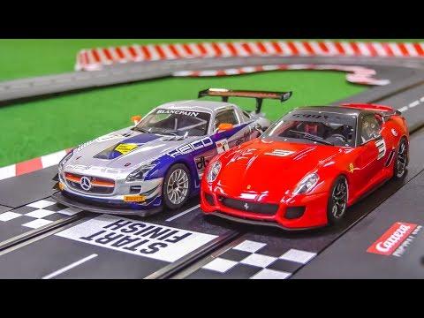 Xxx Mp4 Carrera Slotcar Racetrack Gets Unboxed Mercedes SLS Ferrari 599XX 3gp Sex