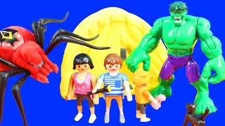 Wild Pets Spiders Scare Playmobil Summer Fun Camping Family Hulk Shakes Family Tent