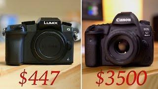 $447 vs $3500 - 5D Mark IV vs G7- 4K video compared!
