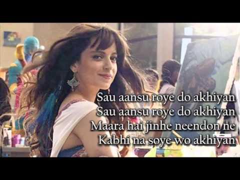 Xxx Mp4 Sau Aasoon SONG WITH LYRICS Katti Batti Imran Khan Kangana Ranaut 3gp Sex
