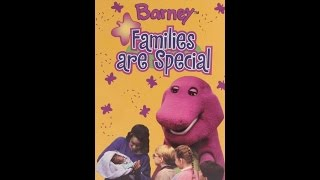 Opening To Barney:Families Are Special 1997 VHS (Warner Home Video Print)