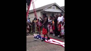 Lil Wayne   Steps on the US flag   God Bless America   OFFC