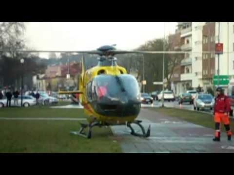 Helikopter LPR ląduje na ulicy