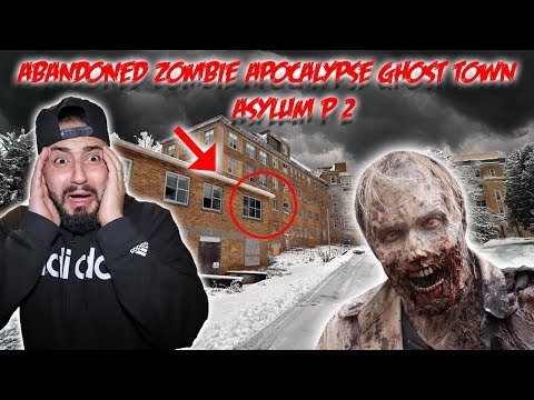 HAUNTED ABANDONED ZOMBIE APOCALYPSE GHOST TOWN part 2 WHAT WE FOUND INSIDE COULD HAVE KILLED ME