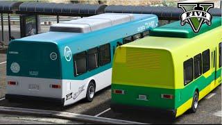 GTA V Mods - VIDA REAL: Motorista de ônibus #1 / City Bus Driver