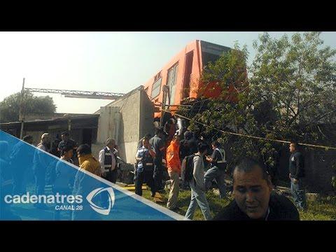 Descarrila convoy del Metro en estación El Rosario