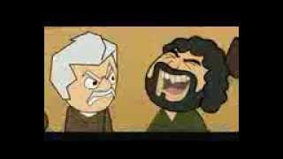 Thakur character of -Hindi bollywood movie Sholay -Funny animated clip-Sanjeev kumar and Gabbar