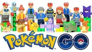 Pokémon GO Minifigures Unofficial LEGO KnockOff Set 1 w/ Ash & Pikachu