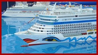 Three RC AIDA Cruise Ships