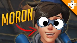 Overwatch Funny & Epic Moments 106 - TRACER IS A MORON! - Highlights Montage