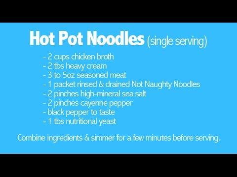 Trim Healthy Mama Hot Pot Noodles RECIPE