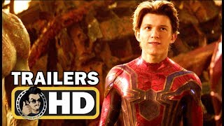 AVENGERS: INFINITY WAR - All Official Trailers (2018) Marvel Movie HD