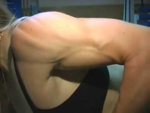 Belly Flexing Six Pack Abs Girl Female Super Strength Bodybuilder