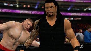 WWE 2K15 - Roman Reigns vs Brock Lesnar (Extreme Rules) 1080p HD