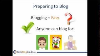 Preparing to Start a Blog