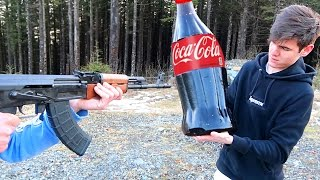 EXPERIMENT GUN VS GIANT GUMMY COCA COLA   David Vlas