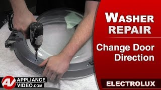 Electrolux & Frigidare Washer –  How to properly change the door direction